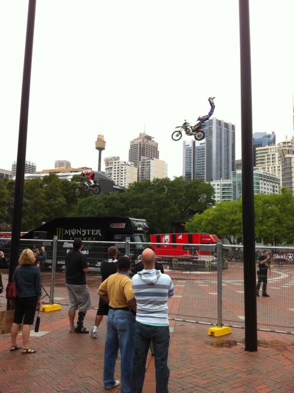 Stunt Riders at Australian Motorcycle Expo